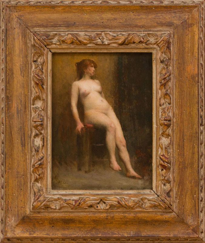 ATTRIBUTED TO JEAN-JACQUES HENNER (1829-1905): NUDE