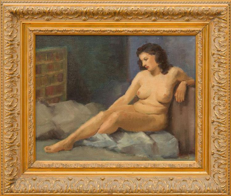 DIOGÈNE MAILLART (1840-1926): STUDY OF A FEMALE NUDE