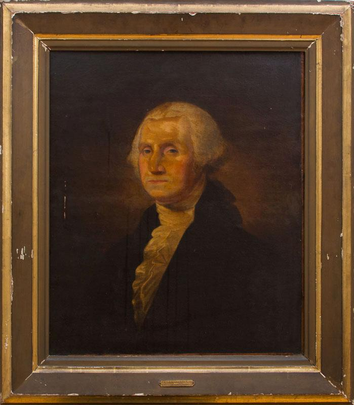 AMERICAN SCHOOL: PORTRAIT OF GEORGE WASHINGTON