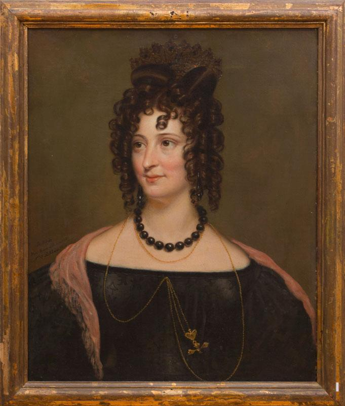ROSE EMMA DRUMMOND: PORTRAIT OF A LADY WITH ONYX NECKLACE