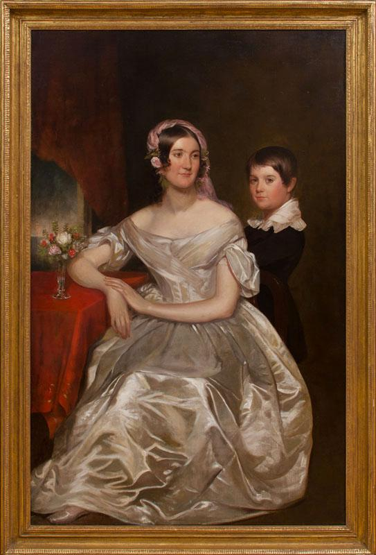 AMERICAN SCHOOL: PORTRAIT OF A MOTHER AND SON