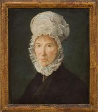 AMERICAN SCHOOL: PORTRAIT OF A WOMAN IN A WHITE CAP