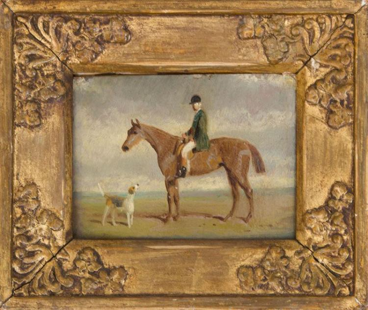 ENGLISH SCHOOL: HORSE AND RIDER