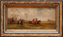 L. HERFORT: HUNTING SCENES: A PAIR