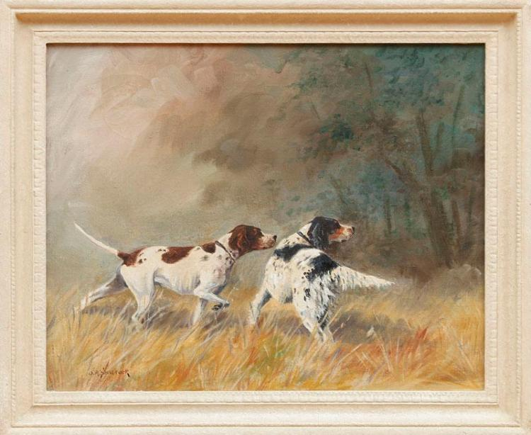 OLIVER R. SHATTUCK: BIRD DOGS AT THE POINT