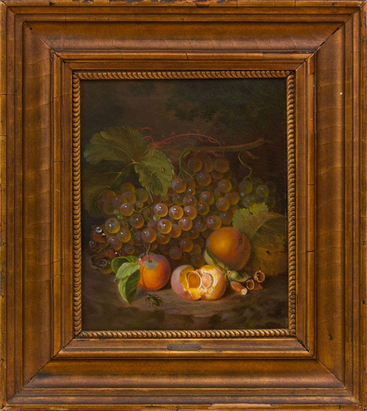 EUROPEAN SCHOOL: STILL LIFE WITH BEETLES AND A BUTTERFLY