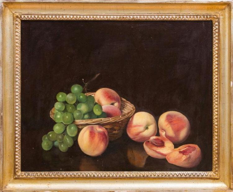 PAUL LONGENECKER (1920-2008): STILL LIFE WITH PEACHES AND GRAPES