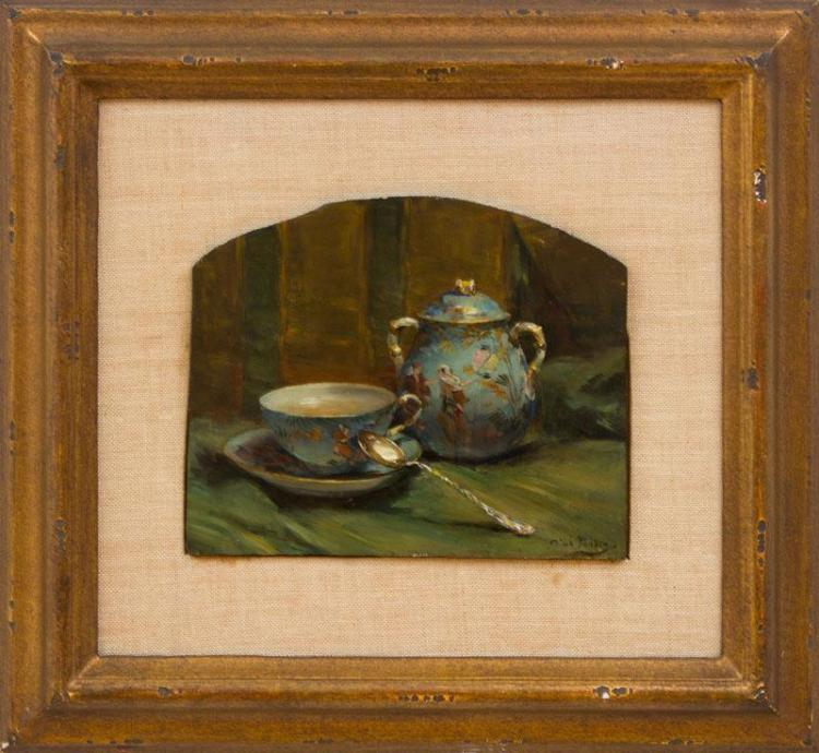 AIMÉ PURDON: TEACUP AND SUGAR BOWL