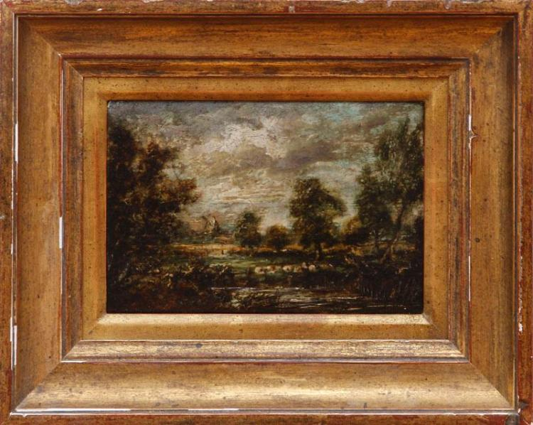 ATTRIBUTED TO JOHN CONSTABLE (1776-1837): LANDSCAPE SKETCH