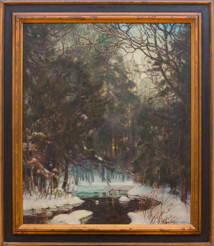 ROBERT STRONG WOODWARD (1885-1960): SNOW SCENE