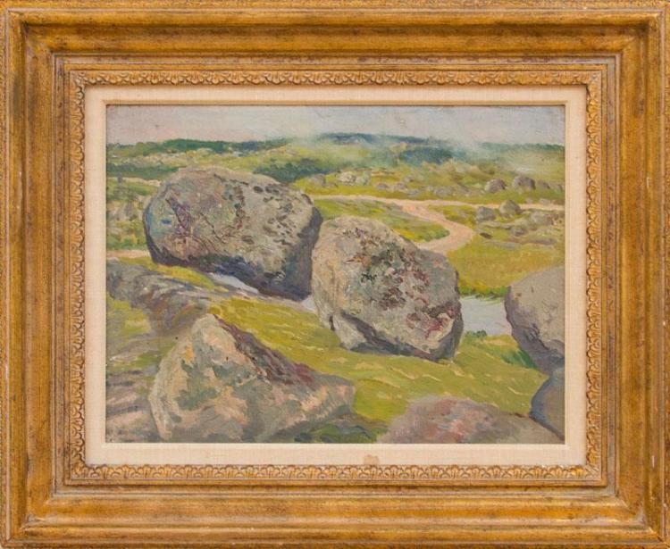 WILLIAM STARKWEATHER (1879-1969): THE GREAT ROCKS AT PEGGY''S COVE