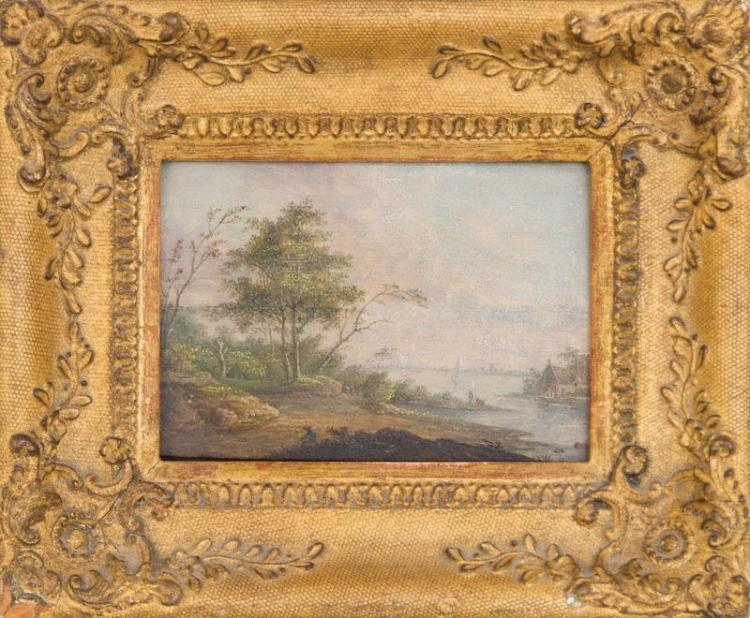 EUROPEAN SCHOOL: LANDSCAPE AT THE MOUTH OF A RIVER