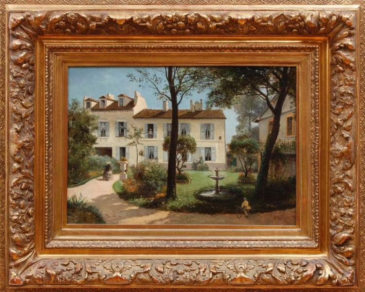 HENRI-JEAN LEFORTIER (1819-1886): FRENCH VILLA