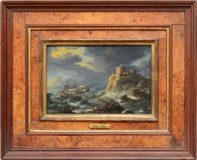 DUTCH SCHOOL: SHIPWRECK; AND PASTORAL SCENE