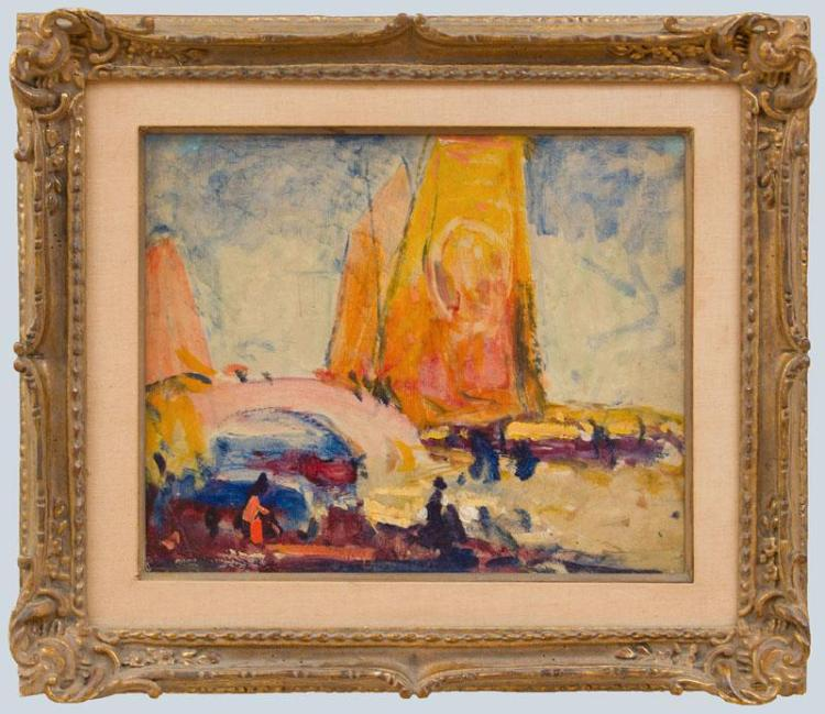 GEORGE ELMER BROWNE (1871-1946): UNTITLED (SAILBOATS)