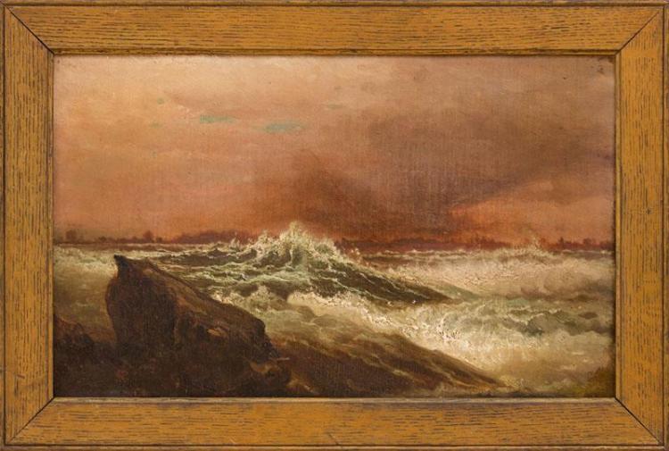 HARRISON BIRD BROWN (1831-1915): SEASCAPE
