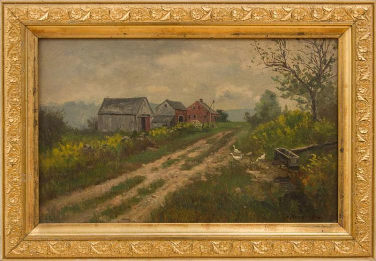 FRANK HENRY SHAPLEIGH (1842-1906): OLD FARM HOUSE AT JACKSON, NH
