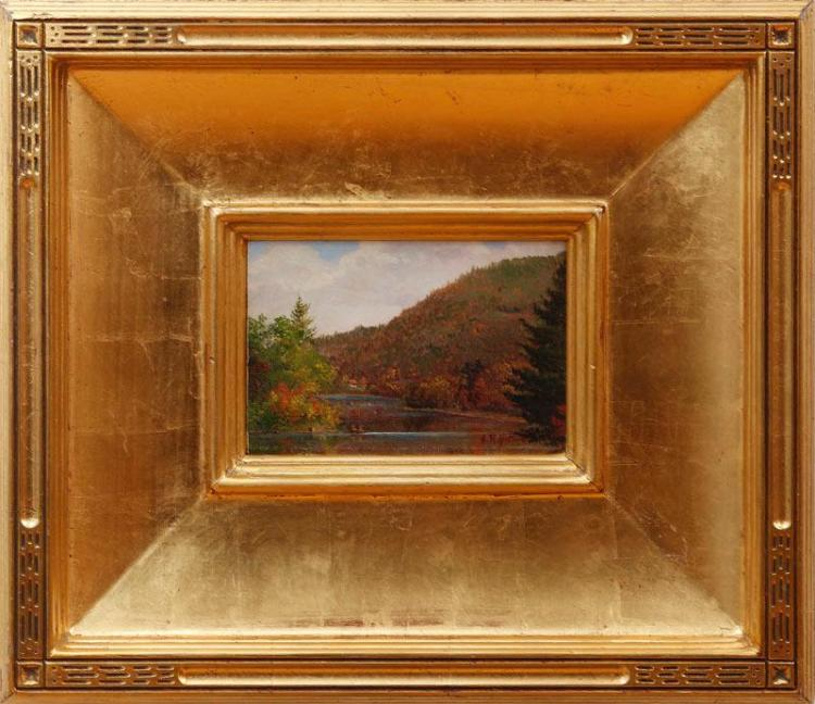 ATTRIBUTED TO SANFORD ROBINSON GIFFORD (1823-1880): EARLY FALL IN THE WHITE MOUNTAINS