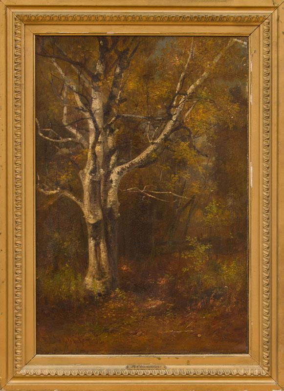 BENJAMIN CHAMPNEY (1817-1907): BIRCH IN AUTUMN