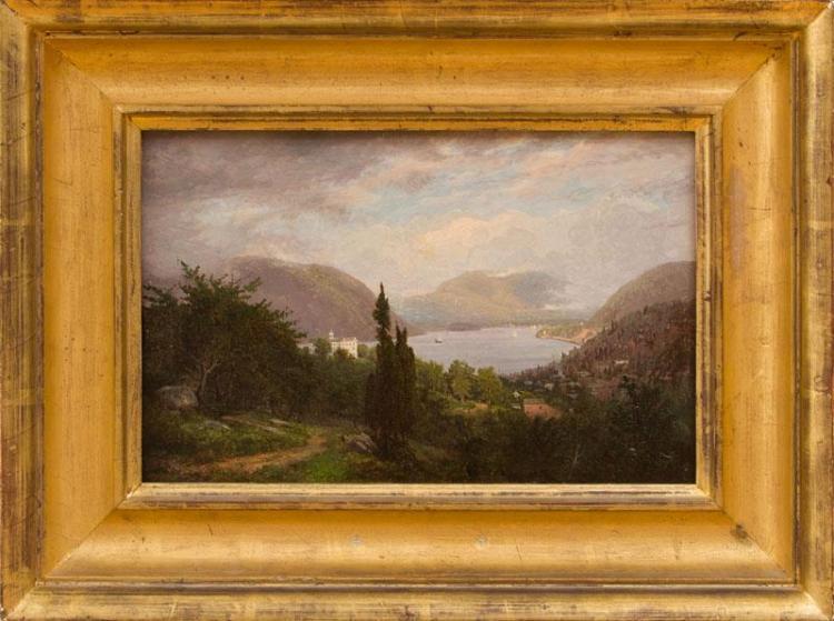 FRANK ANDERSON (1844-1891): VIEW OF PEEKSKILL, NY