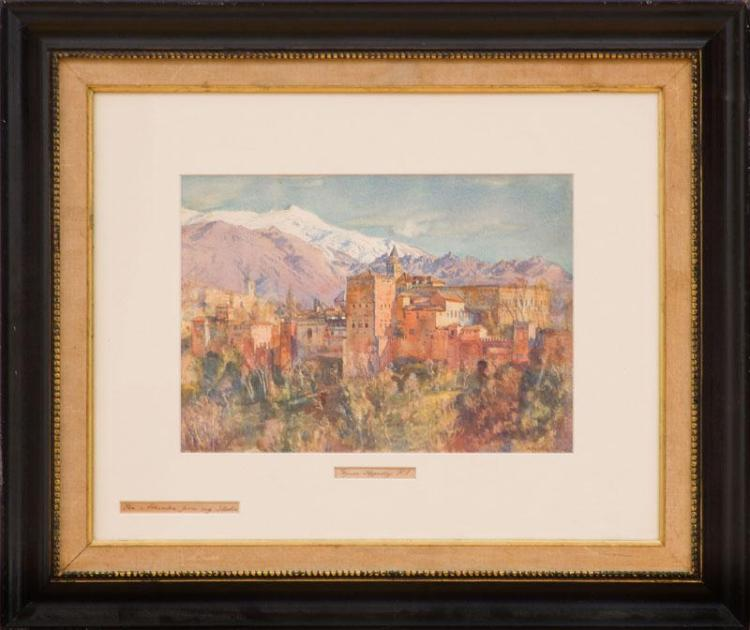GEORGE OWEN WYNNE APPERLEY (1884-1960): THE ALHAMBRA FROM MY STUDIO