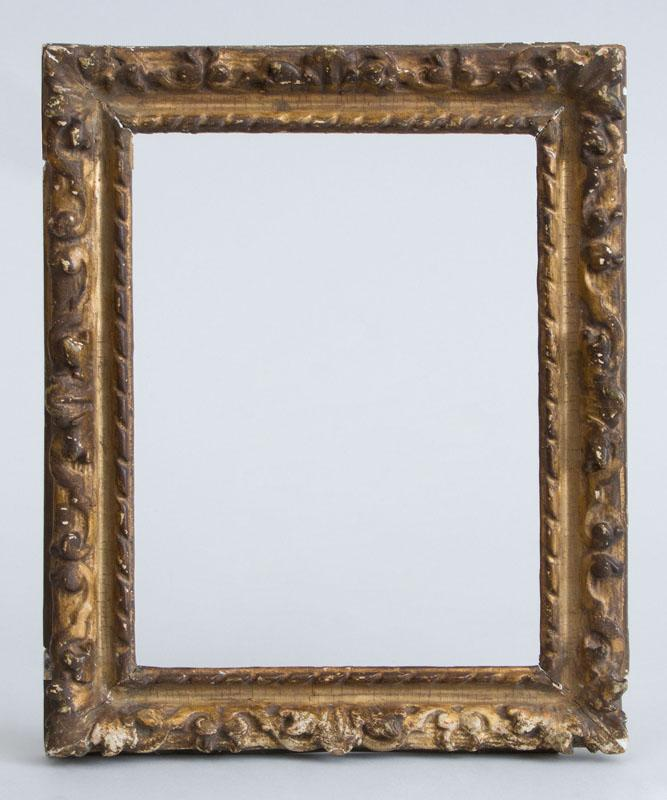 RÉGENCE STYLE CARVED GILT-GESSO ON WOOD SMALL FRAME