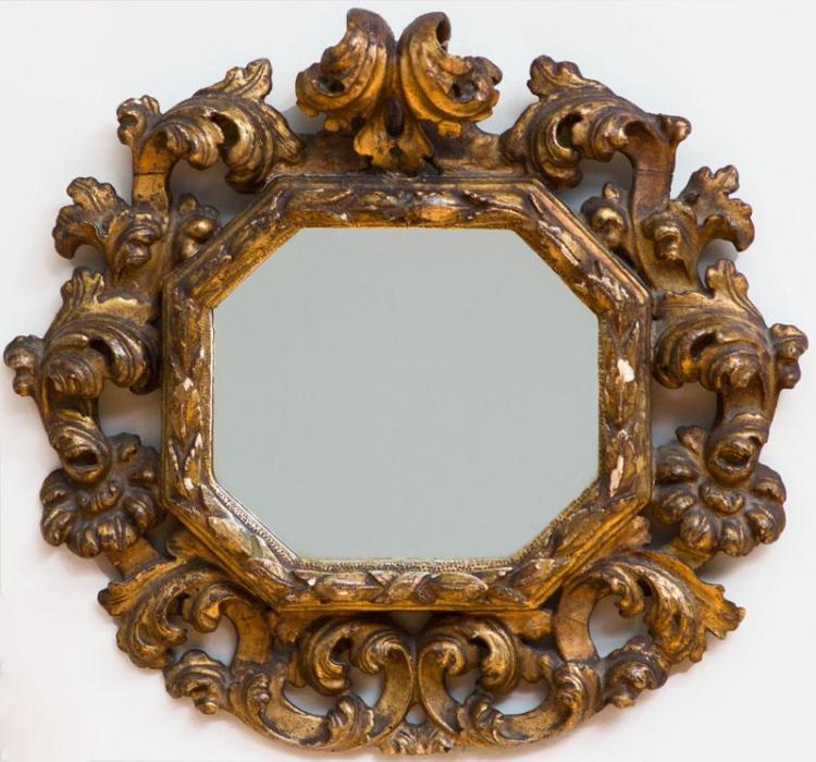 Italian baroque giltwood mirror for Italian baroque mirror
