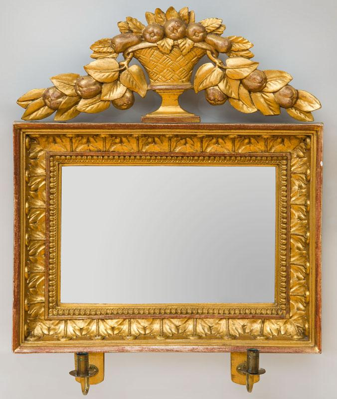 PAIR OF SWEDISH NEOCLASSICAL GILTWOOD GIRANDOLE MIRRORS