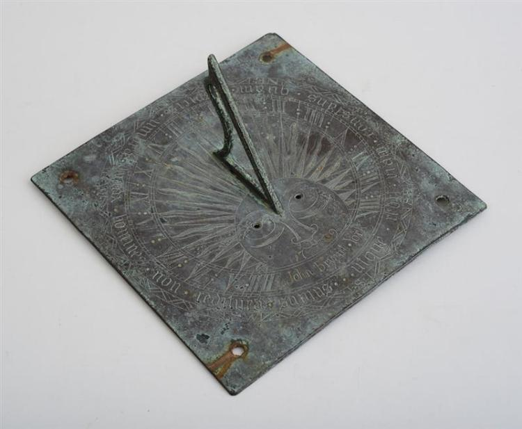 ENGLISH BRONZE SUNDIAL