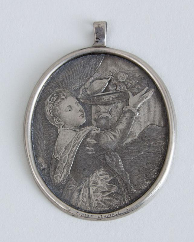 ENGRAVED SILVER PENDANT, LAVINIA, AFTER TITIAN
