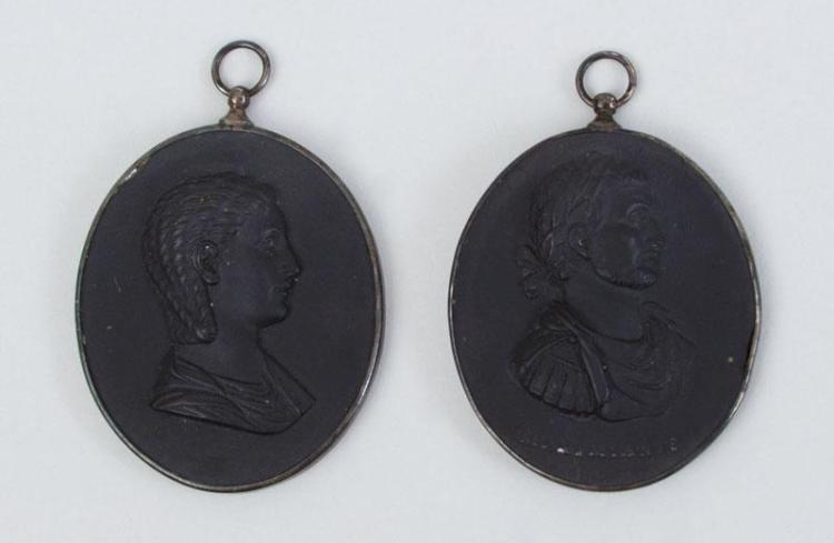 WEDGWOOD AND BENTLEY BLACK BASALTES RELIEF PENDANT