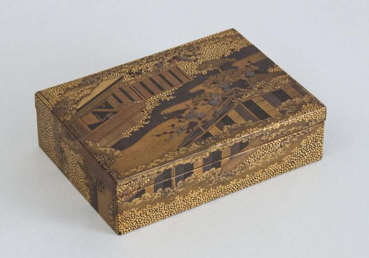 FINE JAPANESE LACQUER CARD BOX AND COVER