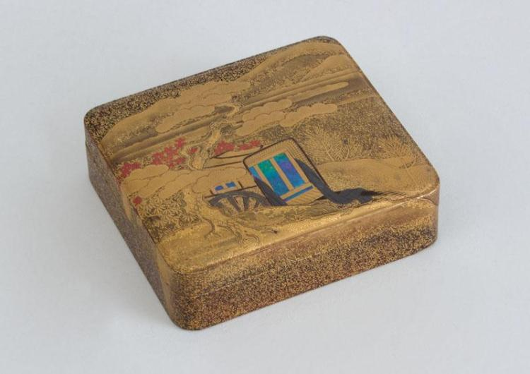 JAPANESE LACQUER BOX AND COVER
