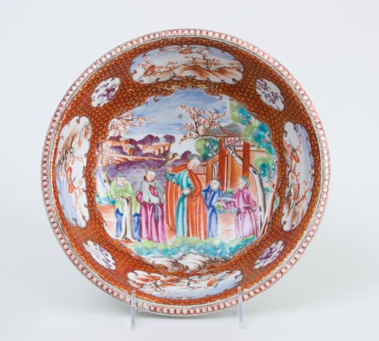 CHINESE EXPORT PORCELAIN BASIN, IN THE
