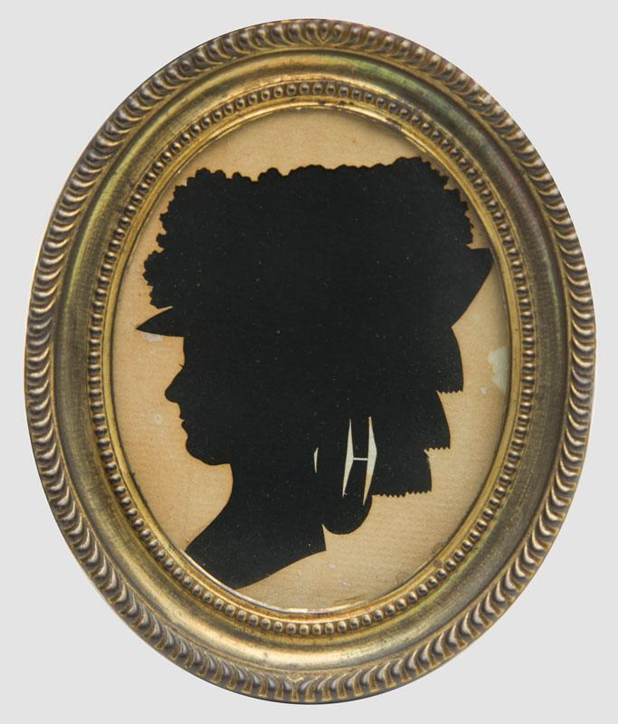 GROUP OF FOUR SILHOUETTE PORTRAITS, ATTRIBUTED TO MRS. SARAH HARRINGTON AND THREE SILHOUETTES, ATTRIBUTED TO THOMAS WHEELER
