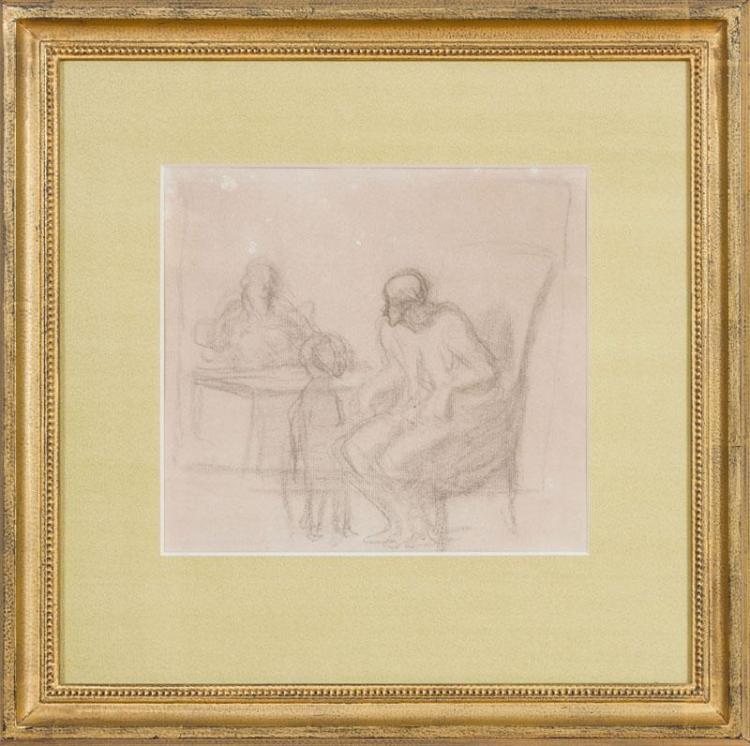 HONORÉ DAUMIER (1808-1879): LA CONSULTATION (LE MÉDECIN ET SON MALADE - LE MALADE IMAGINAIRE - LA FAMILLE À TABLE)