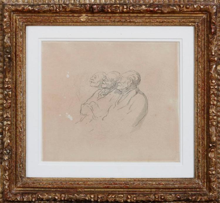 HONORÉ DAUMIER (1808-1879): ÉTUDE DE PERSONNAGES; AND ÉTUDE POUR LE MARCHÉ