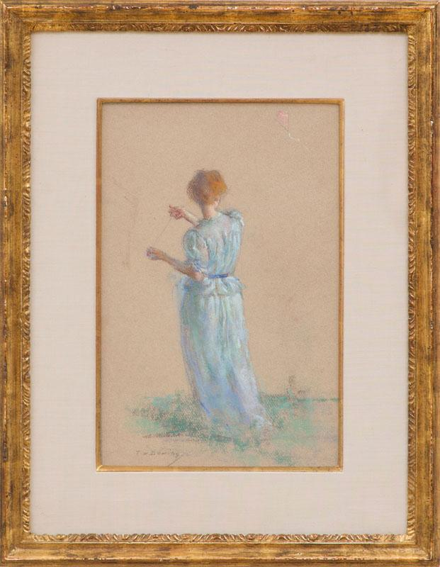 THOMAS WILMER DEWING (1951-1938): LADY WITH A KITE