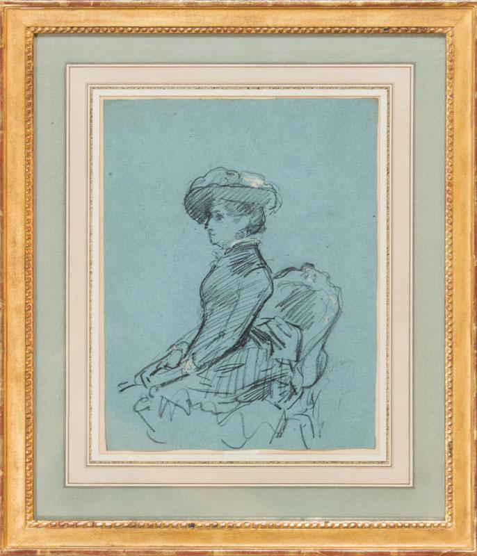 CHARLES MAURIN (1856-1914): DAME AU GRAND CHAPEAU