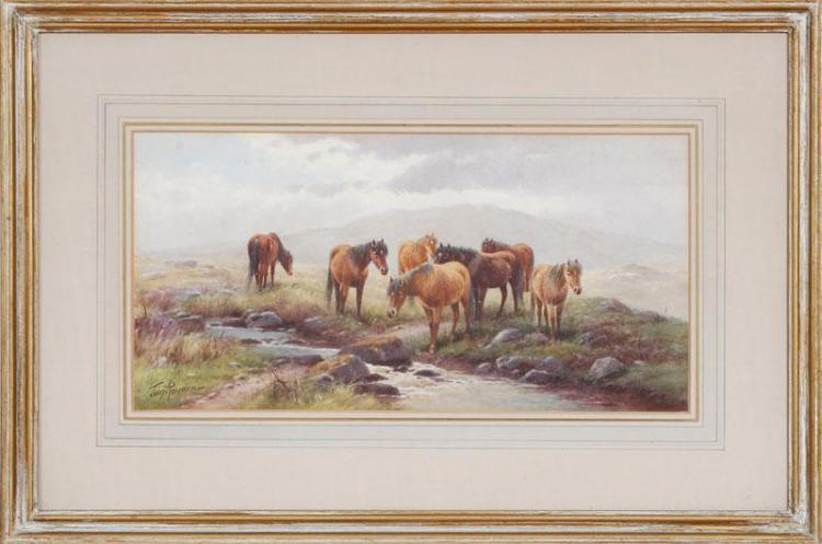 THOMAS ROWDEN (1842-1926): DARTMOOR PONIES