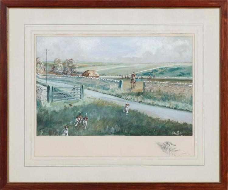 MICHAEL LYNE (1912-1989): NORTH COTSWOLD HUNT