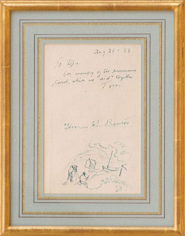 THOMAS HART BENTON (1889-1975): HURRICANE CAROL