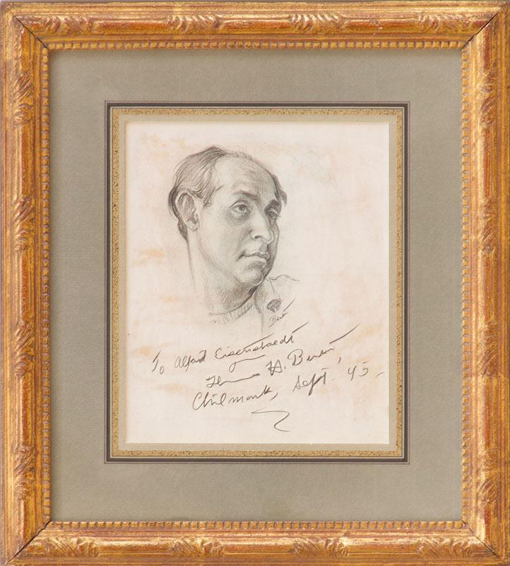 THOMAS HART BENTON (1889-1975): PORTRAIT OF ALFRED EISENSTAEDT