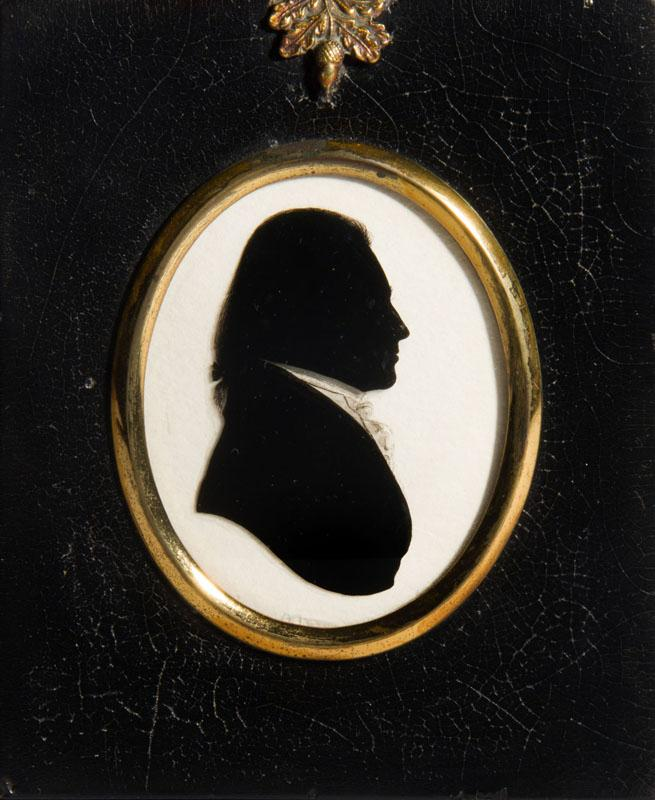 ATTRIBUTED TO WILLIAM HAMLET: THE ELDER; TWO SILHOUETTE PORTRAITS OF F. ANNESLEY ESQ. AND ANOTHER