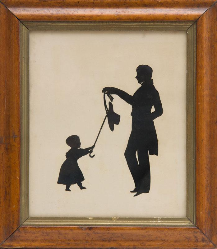 AUGUSTE EDOUART: TWO SILHOUETTE CONVERSATION GROUPS
