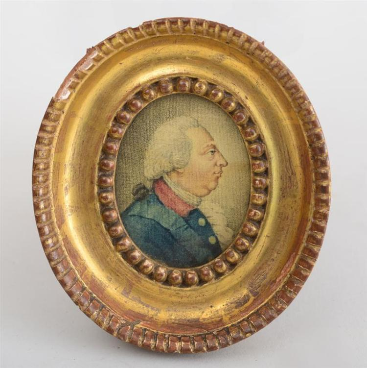 ENGLISH SCHOOL: PROFILE PORTRAIT OF KING GEORGE III