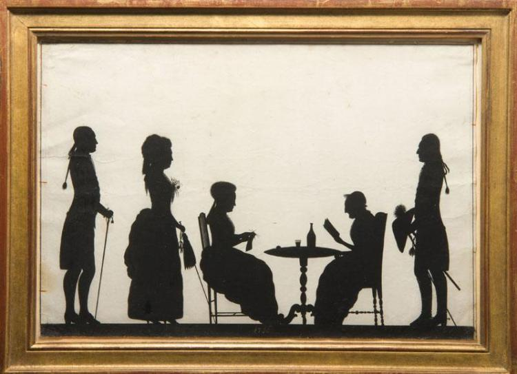 ATTRIBUTED TO TOROND: SILHOUETTE CONVERSATION GROUP