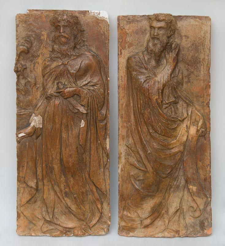 ATTRIBUTED TO GIOVANNI BANDINI (1540-1599): ST. PAUL WITH SCROLL; AND ST. PETER WITH DAGGER