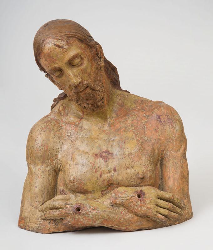 FOLLOWER OF NINO PISANO (1315-1368): BUST OF CHRIST AT THE PILLAR