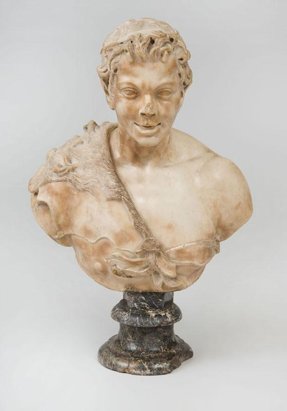 ITALIAN SCHOOL, POSSIBLY PIETRO BERNINI (1562-1629): BUST OF A SATYR